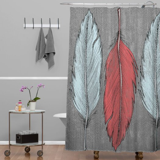 DENY Designs Wesley Bird Feathered Shower Curtain