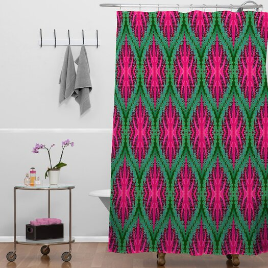 DENY Designs Wagner Campelo Ikat Leaves Shower Curtain