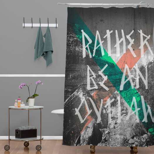 DENY Designs Wesley Bird Rather Be An Outlaw Shower Curtain