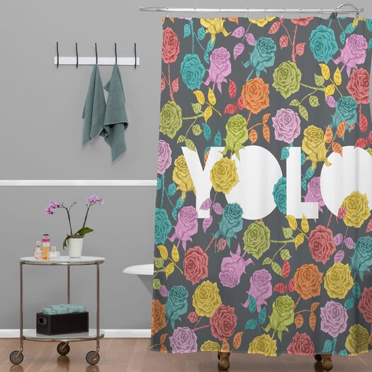 DENY Designs Bianca Green Yolo Shower Curtain