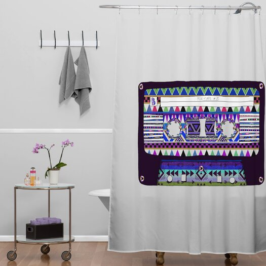 DENY Designs Bianca Green Mix Tape No 10 Shower Curtain