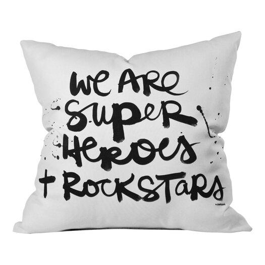 DENY Designs Kal Barteski Superheroes Throw Pillow