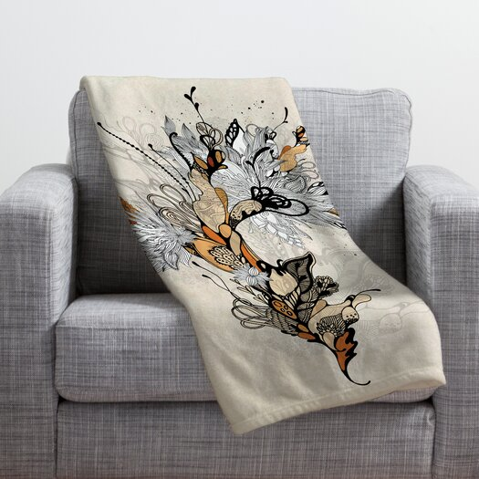 DENY Designs Iveta Abolina Floral 1 Throw Blanket