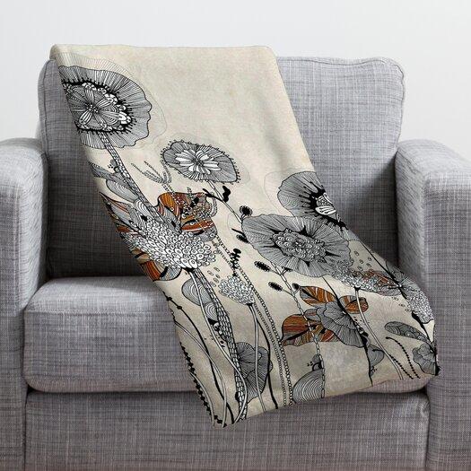 DENY Designs Iveta Abolina Floral 3 Throw Blanket