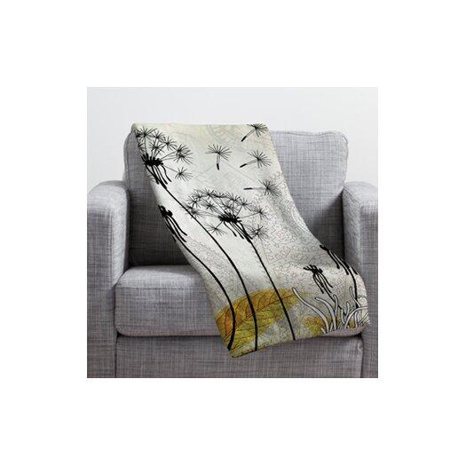 DENY Designs Iveta Abolina Little Dandelion Throw Blanket