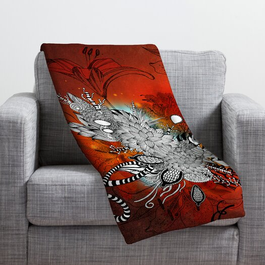 DENY Designs Iveta Abolina Wild Lilly Throw Blanket