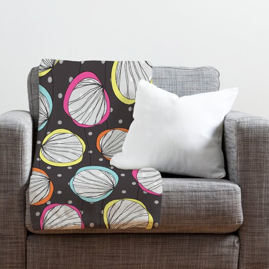 DENY Designs Rachael Taylor Scribble Shells Throw Blanket