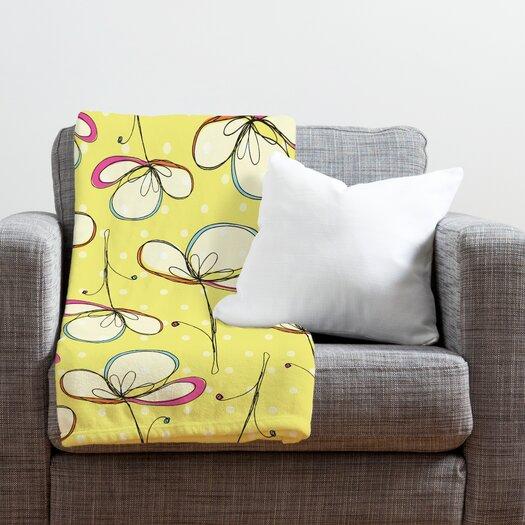 DENY Designs Rachael Taylor Floral Umbrellas Throw Blanket