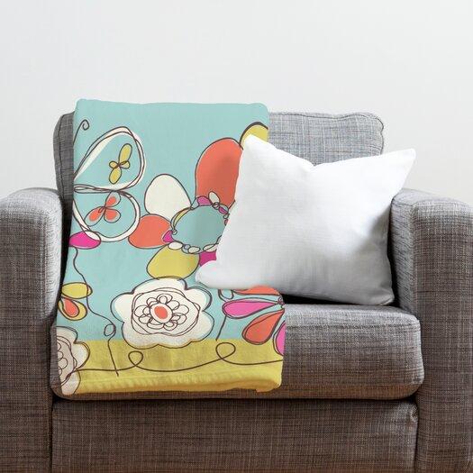DENY Designs Rachael Taylor Fun Floral Throw Blanket