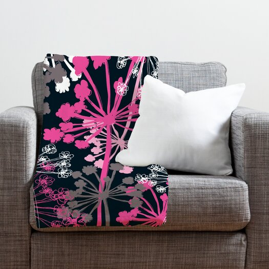 DENY Designs Rachael Taylor Cow Parsley Throw Blanket