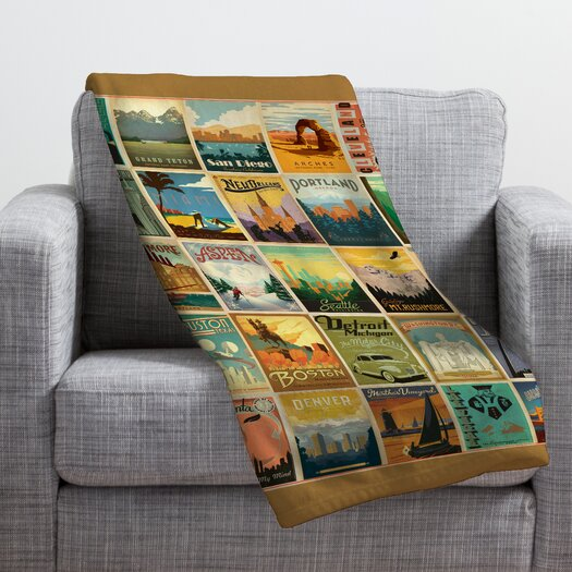 DENY Designs Anderson Design Group City Pattern Border Throw Blanket