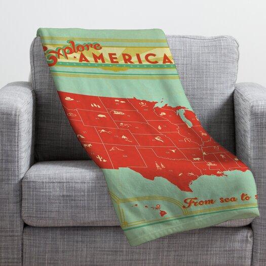 DENY Designs Anderson Design Group Explore America Throw Blanket