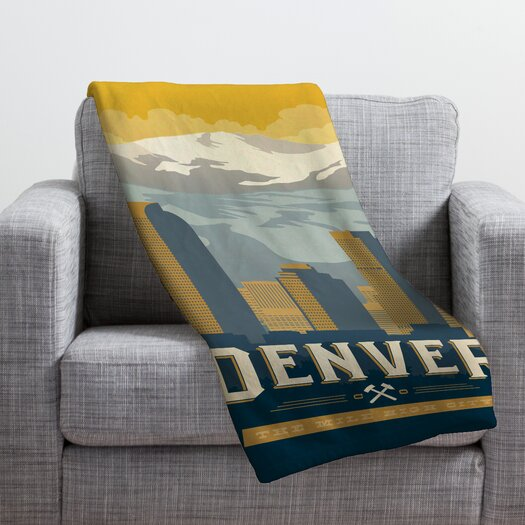 DENY Designs Anderson Design Group Denver 1 Throw Blanket