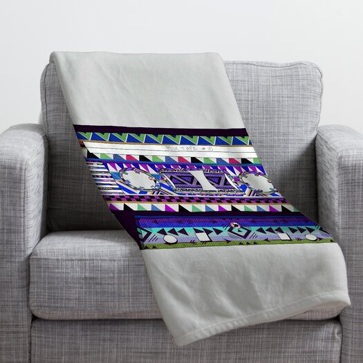 DENY Designs Bianca Green Mix Tape No 10 Throw Blanket