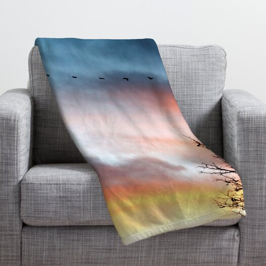 DENY Designs Bird Wanna Whistle Bird Line Throw Blanket