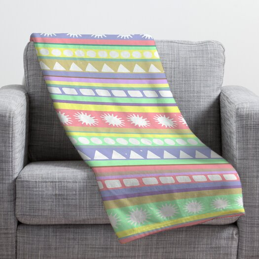 DENY Designs Romi Vega Pastel Pattern Throw Blanket