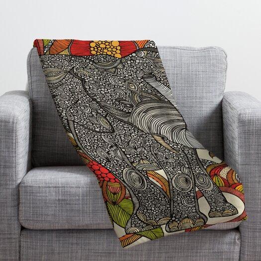 DENY Designs Valentina Ramos Bo The Elephant Throw Blanket