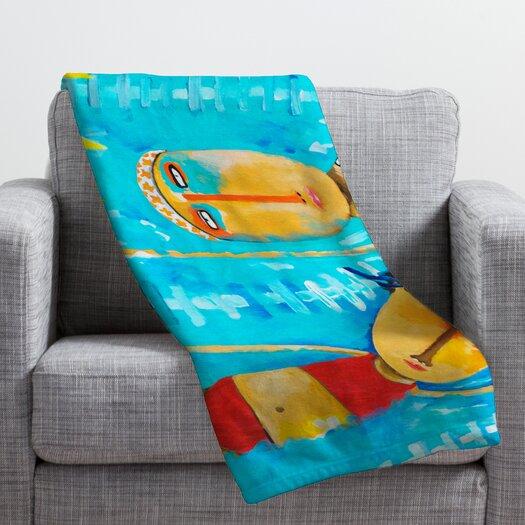 DENY Designs Robin Faye Gates Swimming Is Hard Throw Blanket