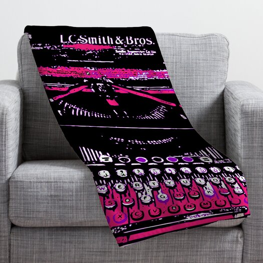 DENY Designs Romi Vega Antique Typewriter Throw Blanket