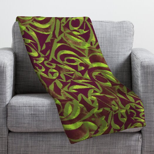 DENY Designs Wagner Campelo Abstract Garden Throw Blanket