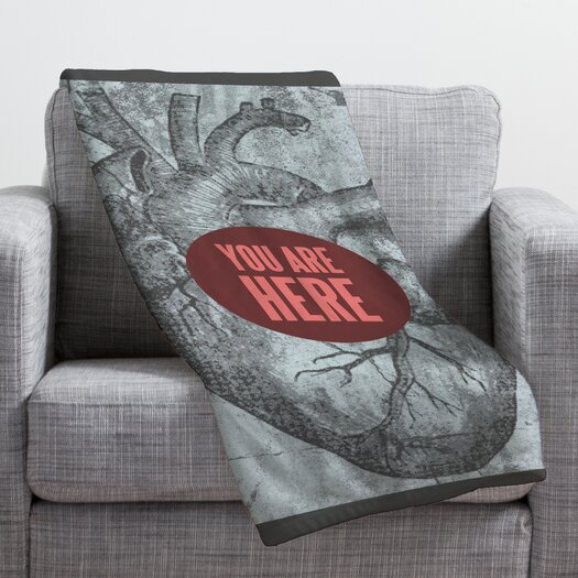 DENY Designs Wesley Bird You Are Here Throw Blanket