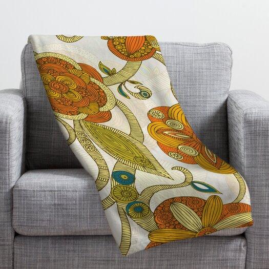 DENY Designs Valentina Ramos Orange Flowers Throw Blanket