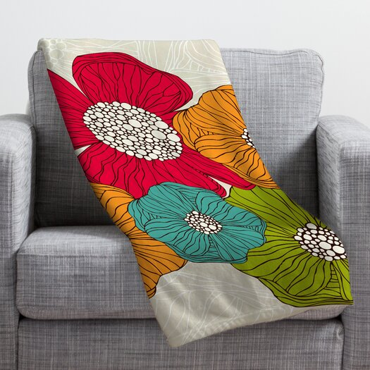 DENY Designs Valentina Ramos Flowers Throw Blanket