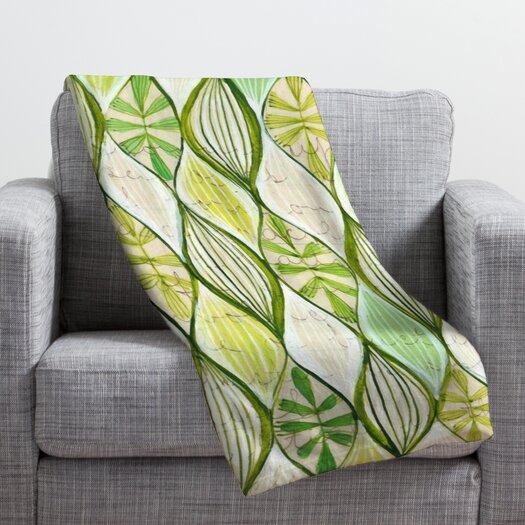 DENY Designs Cori Dantini Green Throw Blanket