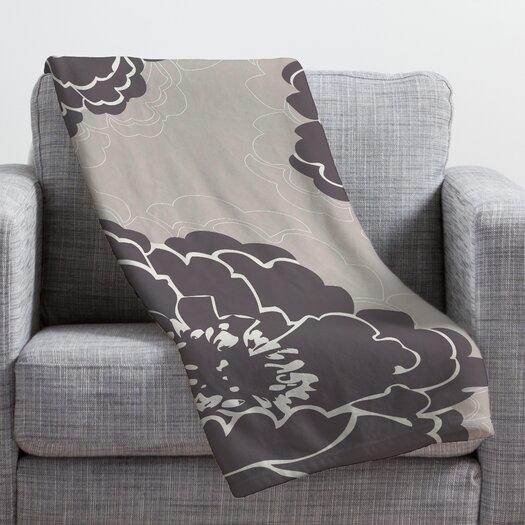 DENY Designs Caroline Okun Winter Peony Throw Blanket