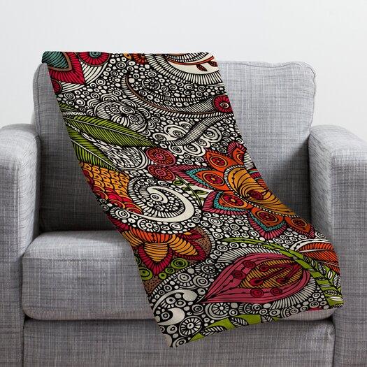 DENY Designs Valentina Ramos Random Flowers Throw Blanket