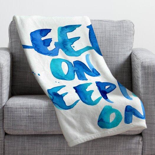 DENY Designs CMYKaren Keep on Keepin On Throw Blanket