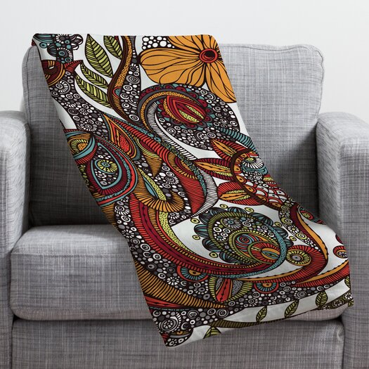 DENY Designs Valentina Ramos Paradise Bird Throw Blanket