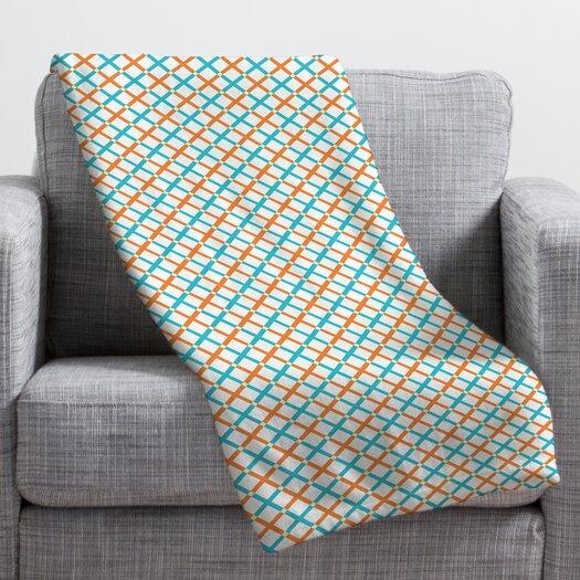 DENY Designs Tammie Bennett X Check Throw Blanket