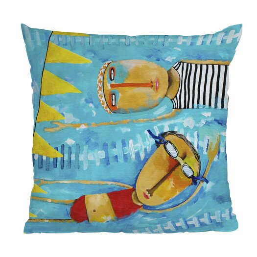DENY Designs Robin Faye Gates Swimming Is Hard Throw Pillow