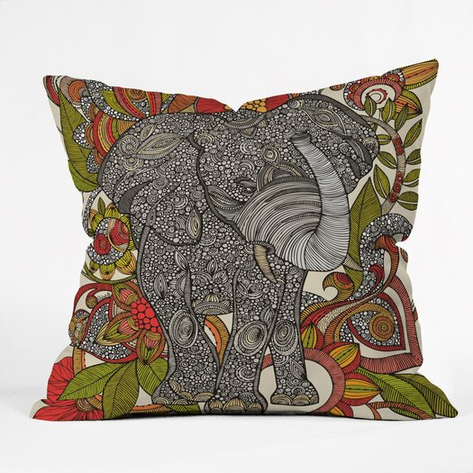 DENY Designs Valentina Ramos Bo the Elephant Throw Pillow
