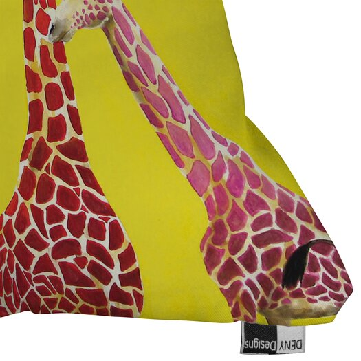 DENY Designs Clara Nilles Jellybean Giraffes Throw Pillow