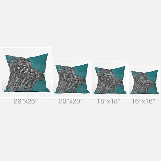 DENY Designs Valentina Ramos Beta Fish Throw Pillow