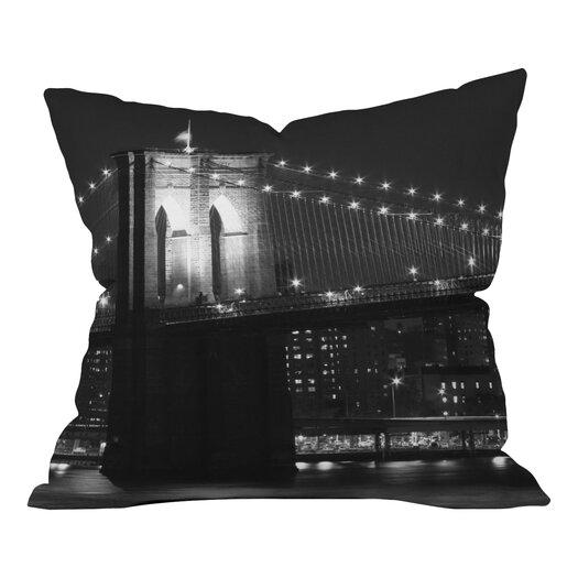 DENY Designs Leonidas Oxby Brooklyn Bridge 125 Throw Pillow