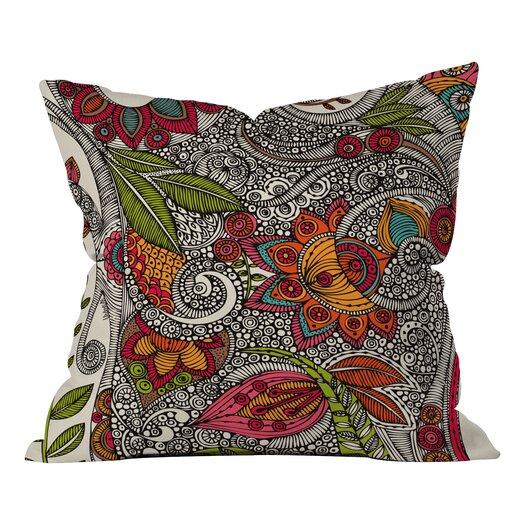 DENY Designs Valentina Ramos Random Flowers Indoor/Outdoor Throw Pillow