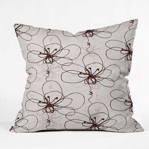 DENY Designs Rachael Taylor Tonal Floral Throw Pillow