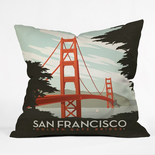 DENY Designs Anderson Design Group San Francisco Throw Pillow