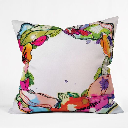 DENY Designs CayenaBlanca Floral Frame Throw Pillow