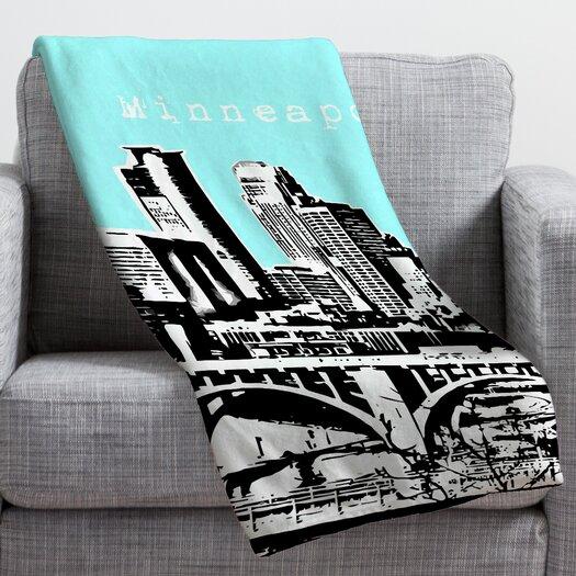 DENY Designs Bird Ave Minneapolis Throw Blanket