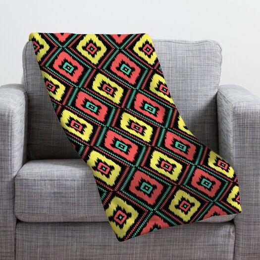 DENY Designs Jacqueline Maldonado Zig Zag Ikat Throw Blanket