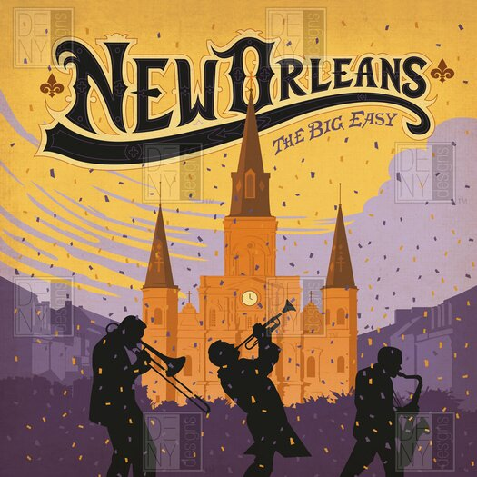 DENY Designs Anderson Design Group New Orleans One Shower Curtain