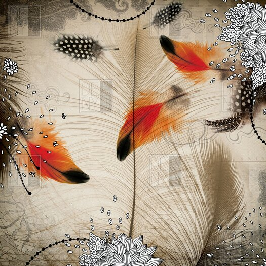 DENY Designs Iveta Abolina Feather Dance Shower Curtain