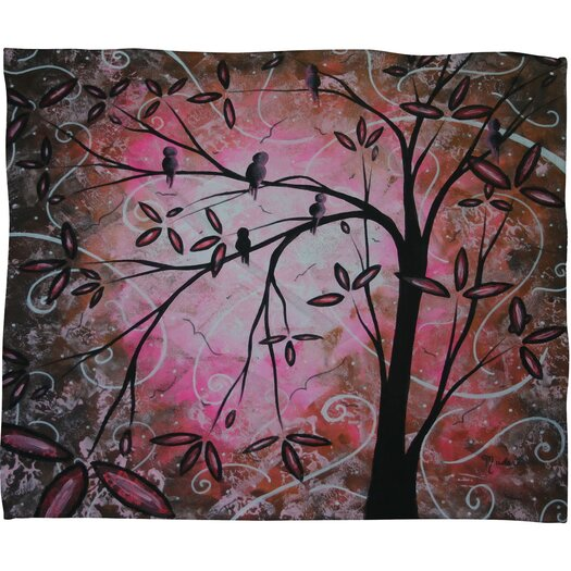 DENY Designs Madart Inc. Cherry Blossoms Throw Blanket