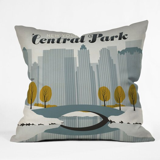 DENY Designs Anderson Design Group Central Park Snow Indoor/Outdoor Throw Pillow
