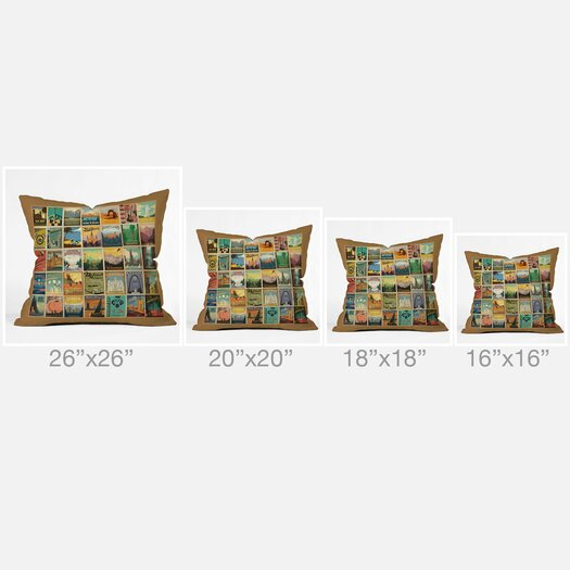 DENY Designs Anderson Design Group City Pattern Border Throw Pillow