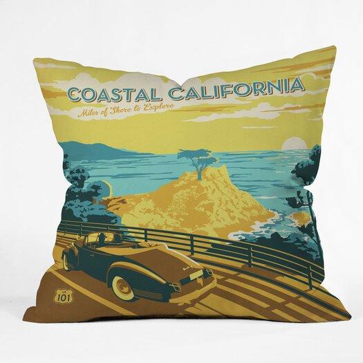 DENY Designs Anderson Design Group Coastal California Indoor/Outdoor Throw Pillow